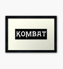 Kombat Framed Print