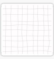 Black and white check, square Sticker