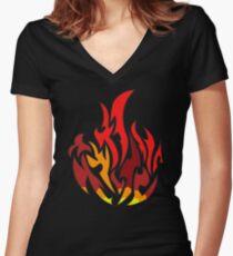 Dauntless Flamme divergent Shirt mit V-Ausschnitt