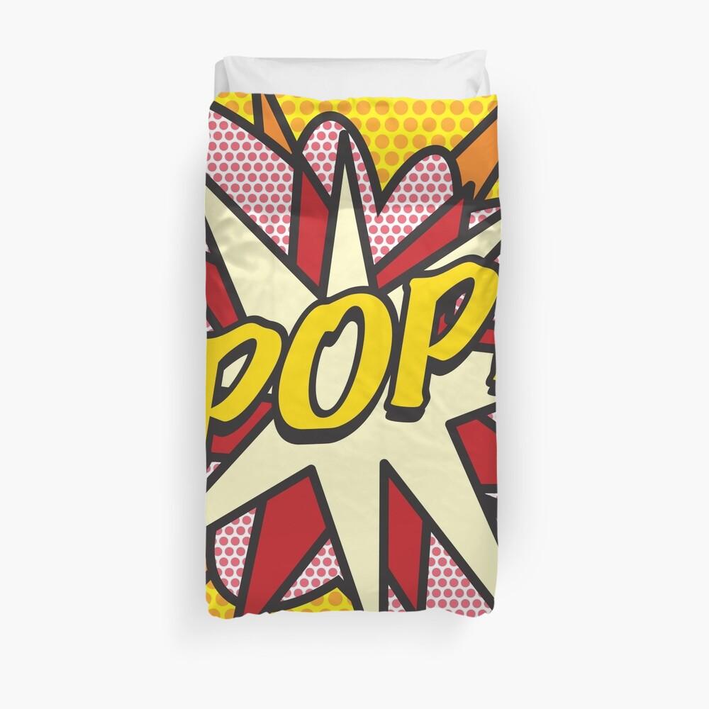 Comic Book Pop Art POP Superhero Duvet Cover