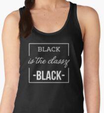 BLACK is the classy BLACK Women's Tank Top