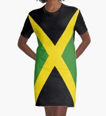 Jamaica Flag Graphic T-Shirt Dress