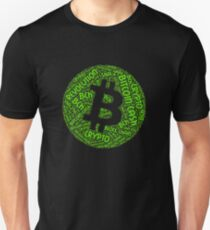 Bitcoin Cash Revolution Block Chain BCH Crypto Word Shirt Unisex T-Shirt