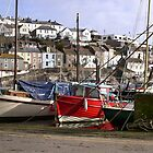 Mevagissey Boats Cornwall by Jan Carlton