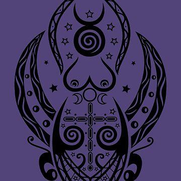 Pagan Wicca Art. Hekate, Mondgöttin.  von ChristineKrahl