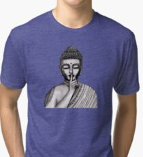 Shh ... do not disturb - Buddha - New Tri-blend T-Shirt
