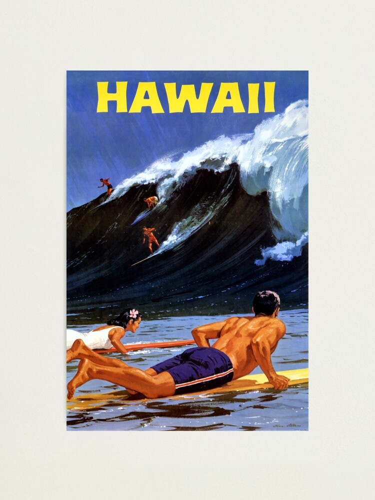 Alternate view of Hawaii Vintage Travel Poster Restored Photographic Print