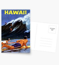Hawaii Vintage Travel Poster Restored Postcards