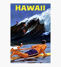 Hawaii Vintage Travel Poster restauriert Fotodruck
