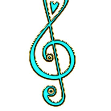 Clef, clave de sol, música, notas musicales, corazón, músico, festival, coro, banda de boom-art