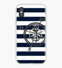 Navy Striped Nautica iPhone Case