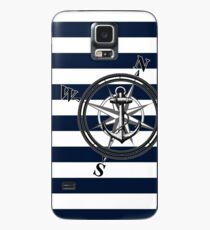 Navy Striped Nautica Case/Skin for Samsung Galaxy