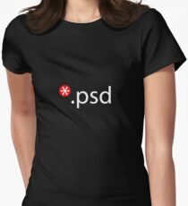 psd Women's Fitted T-Shirt