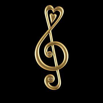 MÚSICA CLEF HEART, Amor, Nota, Música, Clave de sol, Clásico de boom-art