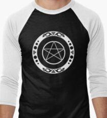 Pentagramm mit trinity Symbol. Baseballshirt mit 3/4-Arm