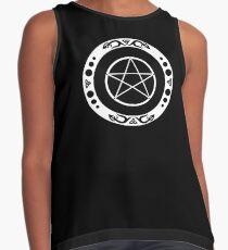 Pentagramm mit trinity Symbol. Ärmelloses Top