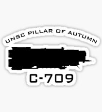 UNSC Pillar Of Autumn C-709 Ship Profile Sticker