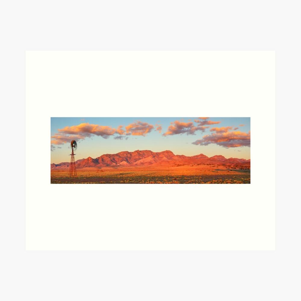 Western Pound Wall, Flinders Ranges, South Australia Art Print