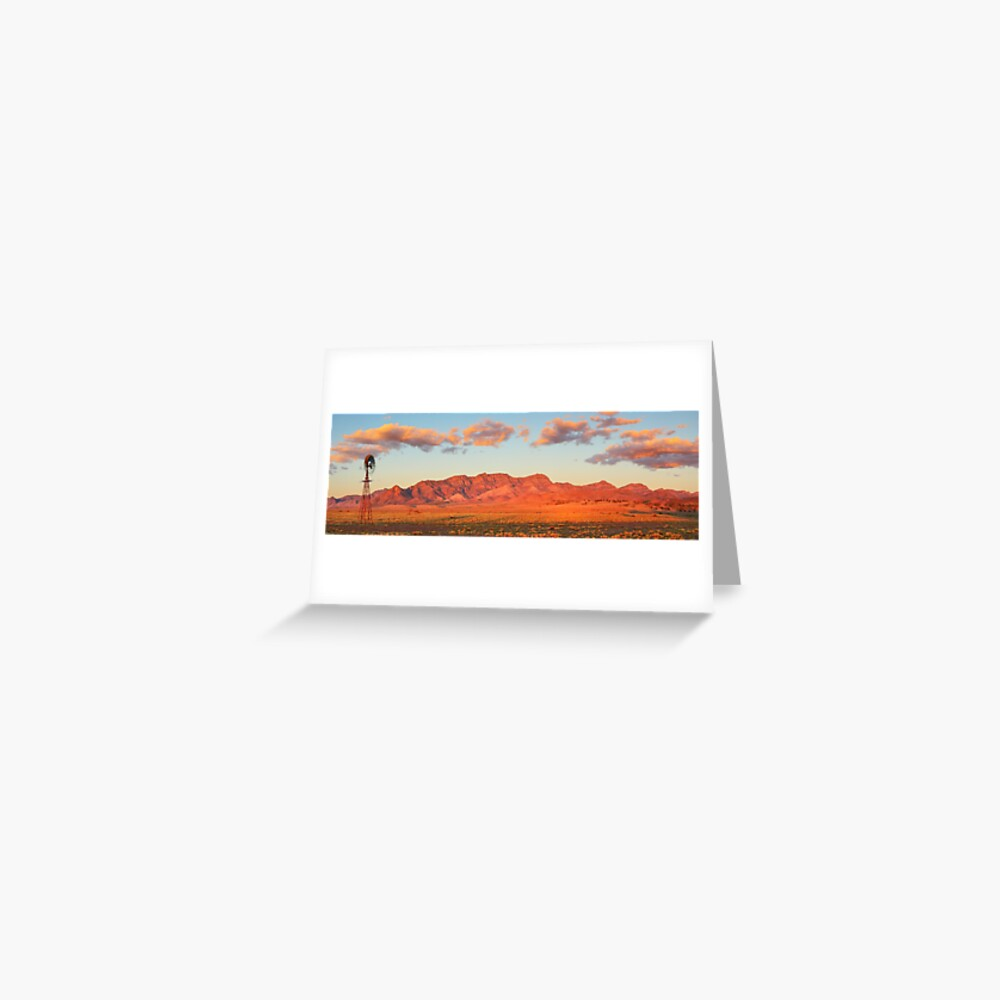 Western Pound Wall, Flinders Ranges, South Australia Greeting Card