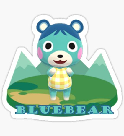 Animal Crossing Pocket Camp Bluebear Announce Sticker