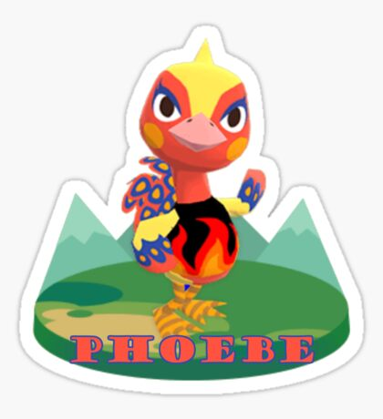 Animal Crossing Pocket Camp Phoebe Announce Sticker