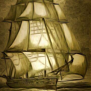 Her Majesty's Ship Bacchante 1876 by ZipaC
