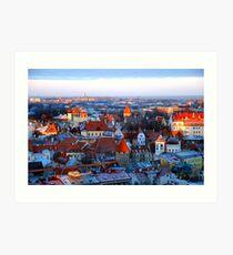 Rooftops of Tallinn Art Print