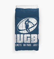 Rugby No Helmets No Pads Just Balls - Funny Rugby Quote Gift Bettbezug