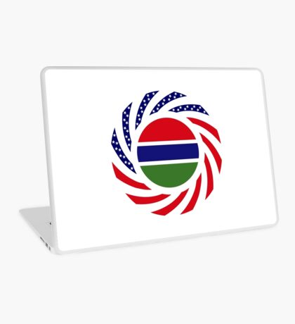 Gambian American Multinational Patriot Flag Series Laptop Skin