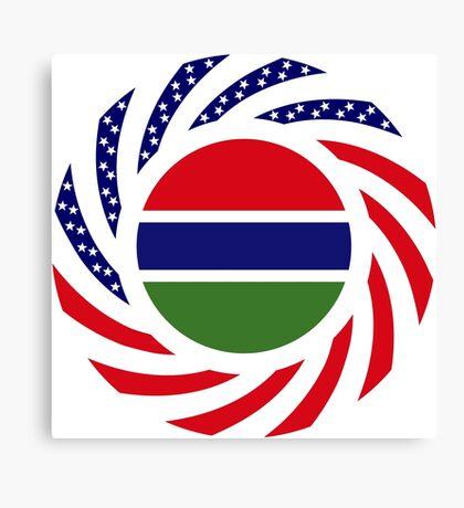 Gambian American Multinational Patriot Flag Series Canvas Print
