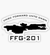 UNSC Forward Unto Dawn FFG-201 Ship Profile Sticker