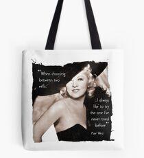 Mae West - Try the evil I've never tried before (Amazing People) Tote Bag
