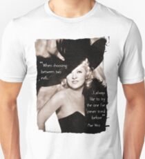Mae West - Try the evil I've never tried before (Amazing People) Unisex T-Shirt