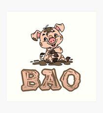 Bao Piggy Art Print