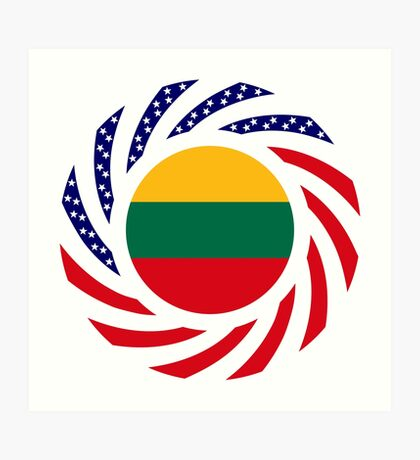 Lithuanian American Multinational Patriot Flag Series Art Print