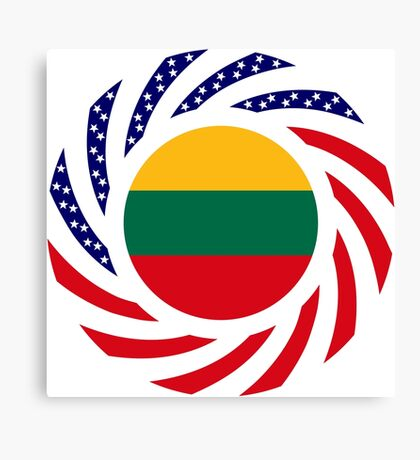 Lithuanian American Multinational Patriot Flag Series Canvas Print