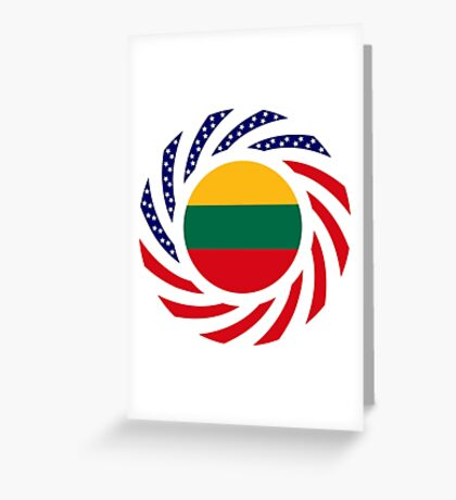 Lithuanian American Multinational Patriot Flag Series Greeting Card