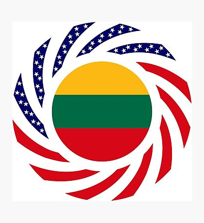 Lithuanian American Multinational Patriot Flag Series Photographic Print