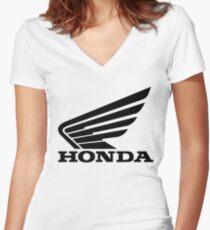 Honda Flügel Shirt mit V-Ausschnitt