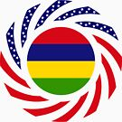 Mauritius American Multinational Patriot Flag Series by Carbon-Fibre Media