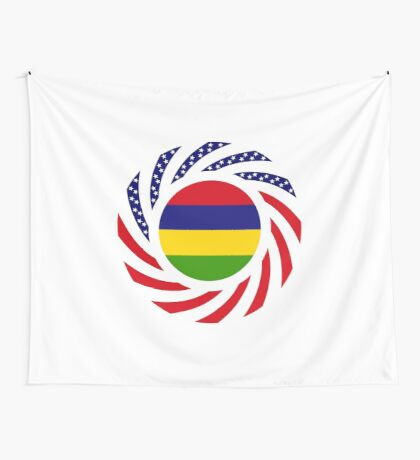 Mauritius American Multinational Patriot Flag Series Wall Tapestry