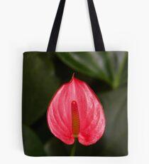 Red Peace Lily Tote Bag