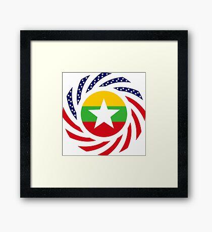 Myanmar American Multinational Patriot Flag Series Framed Print