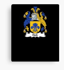 Holt Coat of Arms - Family Crest Shirt Canvas Print
