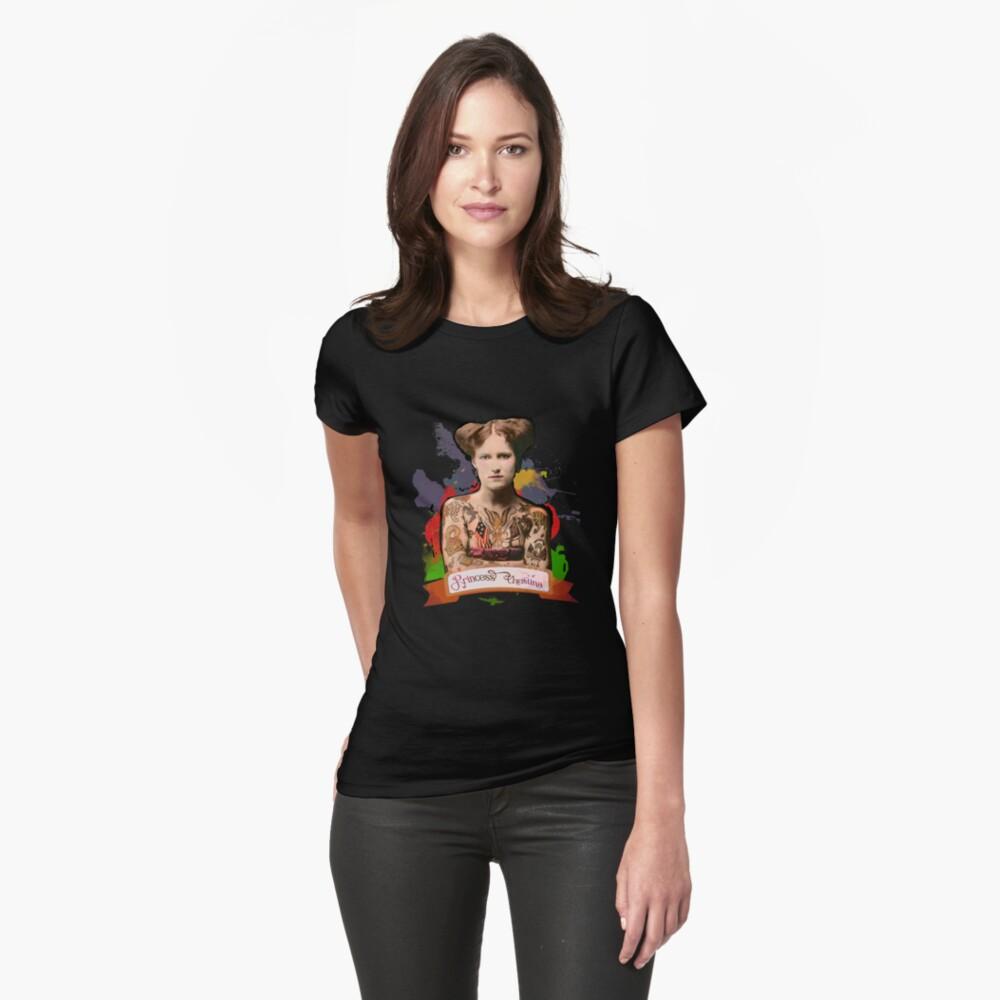 Princess Christina (The Tattooed lady) - The Britannia Panopticon Fitted T-Shirt