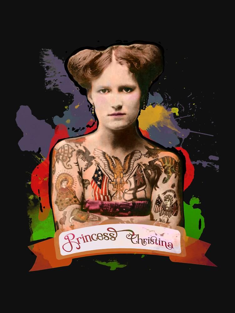 Princess Christina (The Tattooed lady) - The Britannia Panopticon by BritPanopticon