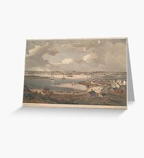 Vintage Pictorial Map of Gloucester MA (1836) Greeting Card