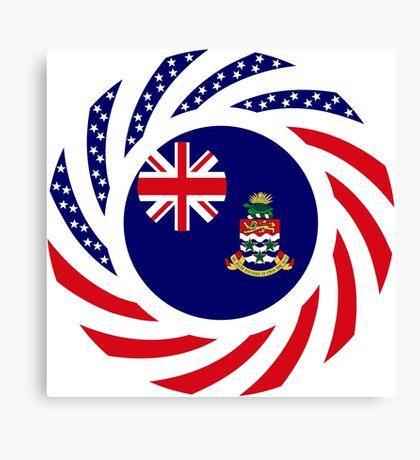 Caymanian American Multinational Patriot Flag Series Canvas Print