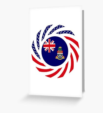Caymanian American Multinational Patriot Flag Series Greeting Card