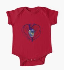 """Anatomical Kind """"Earth Heart"""" Medical Circulatory Get Well Kindness One Piece - Short Sleeve"""